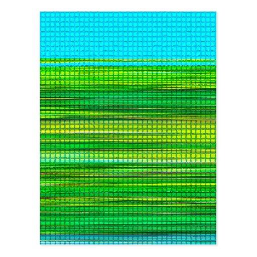 El diseño abstracto raya la postal