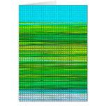 El diseño abstracto raya la tarjeta