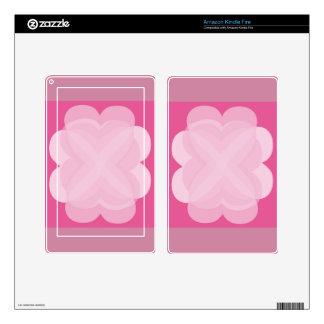 El diseño abstracto rosado encendido enciende la kindle fire skins