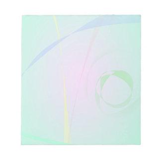 El diseño abstracto verde más único bloc de notas