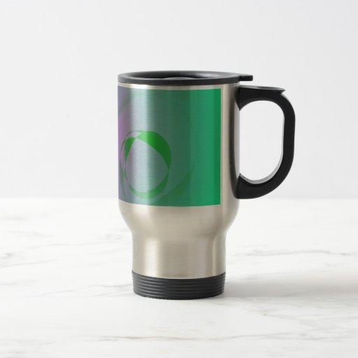 El diseño abstracto verde más único taza