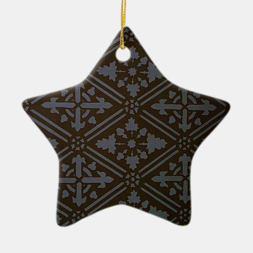 El diseño anhela la talla del texto natural de adorno navideño de cerámica en forma de estrella