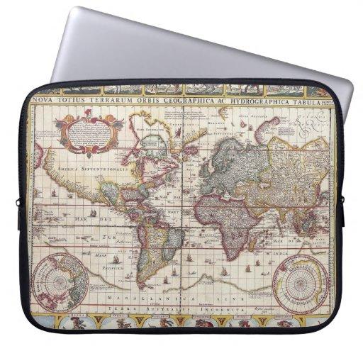 El diseño antiguo del mapa de Viejo Mundo del Funda Ordendadores