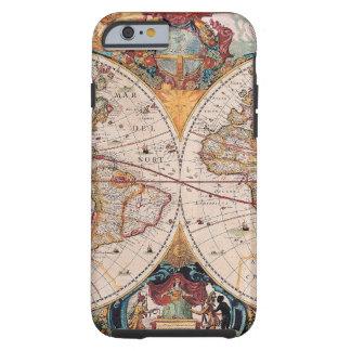 El diseño antiguo del mapa de Viejo Mundo del Funda Para iPhone 6 Tough