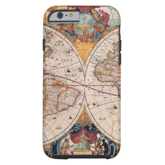 El diseño antiguo del mapa de Viejo Mundo del Funda Resistente iPhone 6
