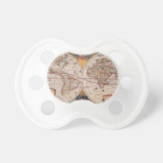 El diseño antiguo del mapa de Viejo Mundo del vint Chupetes Para Bebes
