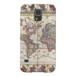 El diseño antiguo del mapa de Viejo Mundo del vint Carcasa Para Galaxy S5
