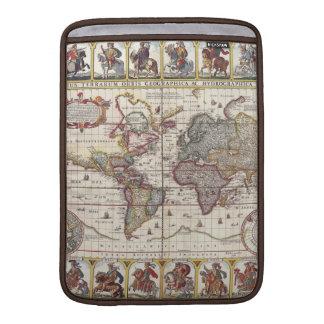El diseño antiguo del mapa de Viejo Mundo del vint Fundas MacBook