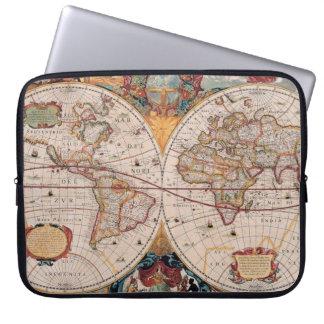 El diseño antiguo del mapa de Viejo Mundo del vint Mangas Portátiles