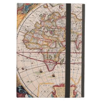 El diseño antiguo del mapa de Viejo Mundo del vint