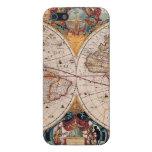 El diseño antiguo del mapa de Viejo Mundo del vint iPhone 5 Fundas