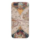 El diseño antiguo del mapa de Viejo Mundo del vint iPhone 5 Protector