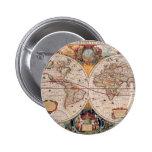 El diseño antiguo del mapa de Viejo Mundo del vint Pins