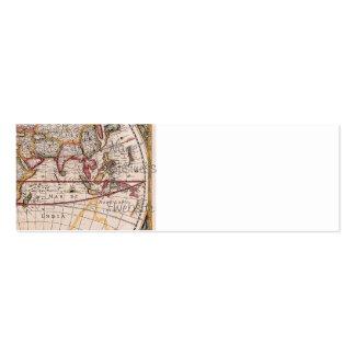 El diseño antiguo del mapa de Viejo Mundo del vint Tarjetas De Visita