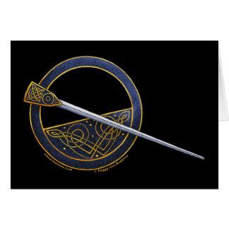 El diseño céltico de la broche carda #2 tarjetón
