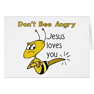 El diseño cristiano de la abeja, no hace abeja eno felicitación