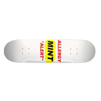 El diseño de la alergia de la menta de la alarma d patines personalizados
