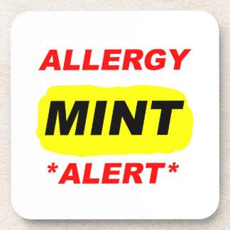 El diseño de la alergia de la menta de la alarma d posavasos
