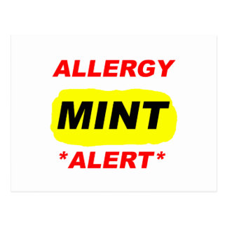 El diseño de la alergia de la menta de la alarma postal