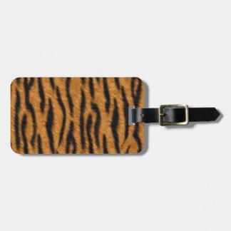 El diseño de la impresión de la piel del tigre, etiqueta de maleta