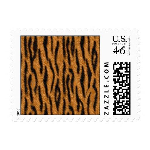 El diseño de la impresión de la piel del tigre, ti franqueo