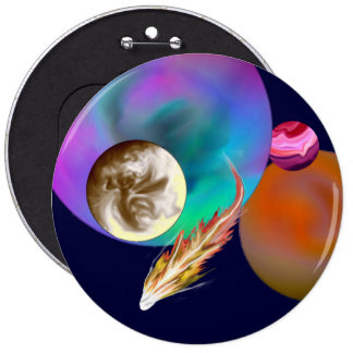El diseño de la Sistema Solar abotona 6 pulgadas Pin