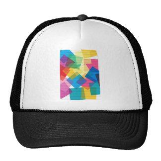 el diseño de la tela de los colores en colores pas gorros bordados