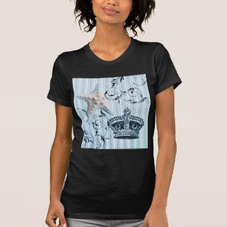 el diseño de las estrellas de mar y de la corona f camisetas