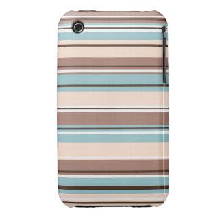 El diseño de Stripey broncea la crema azul y el iPhone 3 Protector