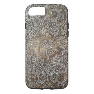 El diseño decorativo florece el metal funda iPhone 7