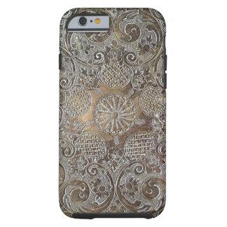 El diseño decorativo florece el metal funda resistente iPhone 6