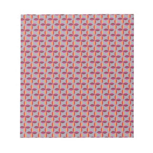 El diseño del arte modela las tejas clásicas moder bloc de notas