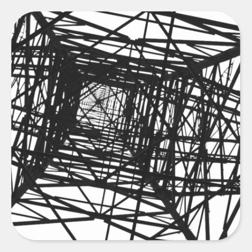 El diseño del arte modela las tejas clásicas calcomanía cuadrada personalizada