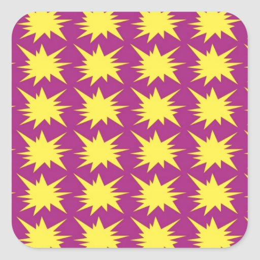 El diseño del arte modela las tejas clásicas pegatina cuadrada