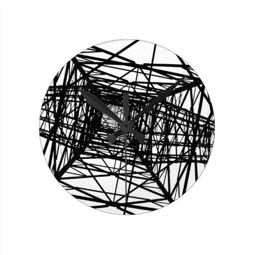 El diseño del arte modela las tejas clásicas reloj redondo mediano