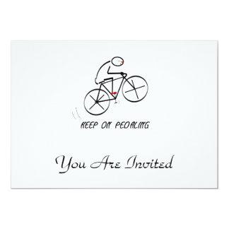 """El diseño del Bicyclist de la diversión con Invitación 5"""" X 7"""""""