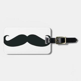 El diseño del bigote etiquetas de maletas