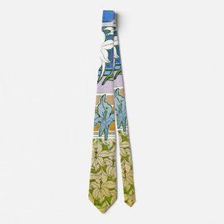 El diseño del lirio bosqueja 1901 corbata
