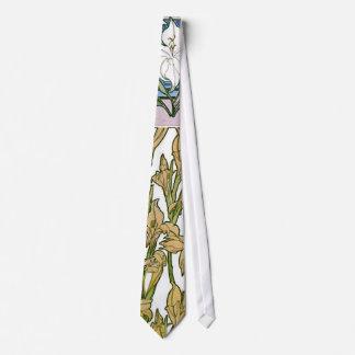 El diseño del lirio bosqueja 1901 corbatas