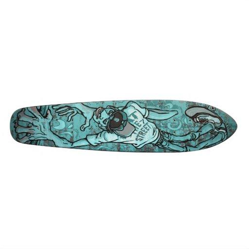 El diseño del monopatín de la barandilla come la c patines personalizados