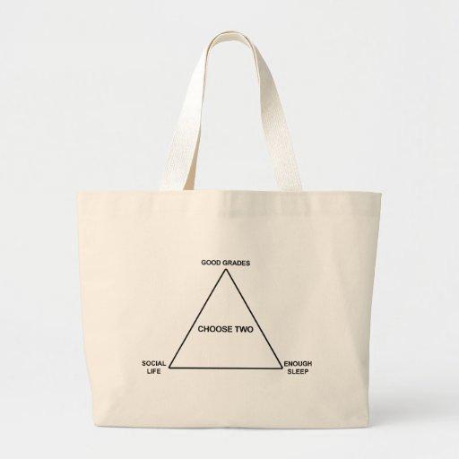 El diseño divertido de la escuela elige dos bolsa