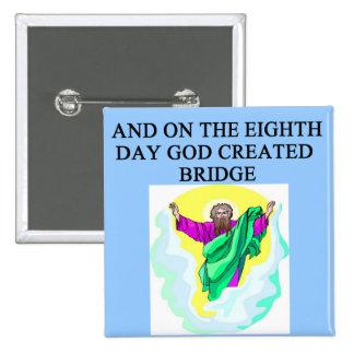 el diseño duplicado del jugador de puente pins