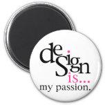 El diseño es… (rosa) imán de nevera