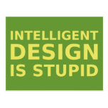 El diseño inteligente es estúpido postal