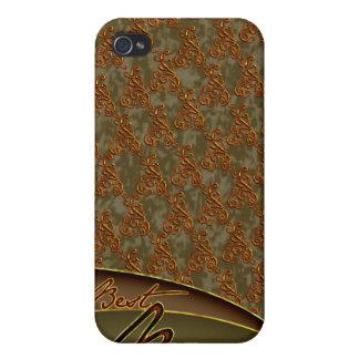 El diseño marrón de oro del mejor jefe iPhone 4/4S carcasa