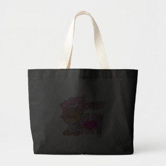 el diseño más dulce del oso de peluche de la mamá  bolsa de mano