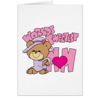 el diseño más dulce del oso de peluche de la mamá  felicitación