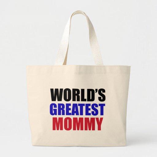 el diseño más grande de la mamá bolsas lienzo