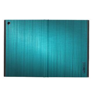 El diseño metálico azulverde cepilló la mirada de