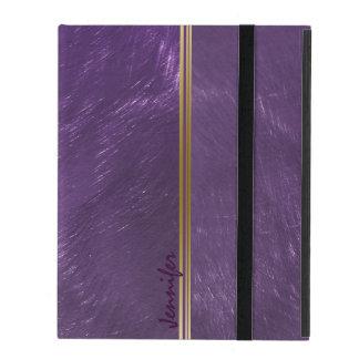El diseño metálico de color morado oscuro cepilló